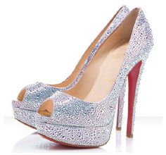 Brand design crystal high heel shoes wedding shoes women's ...