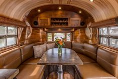 Virginia Airstream - 1953 Flying Cloud by Timeless Travel Trailer. The contrast of a cool exterior and warm interior make this unit a real masterpiece. Airstream Campers, Airstream Remodel, Airstream Interior, Trailer Interior, Vintage Airstream, Camper Renovation, Vintage Trailers, Vintage Campers, Trailer Remodel