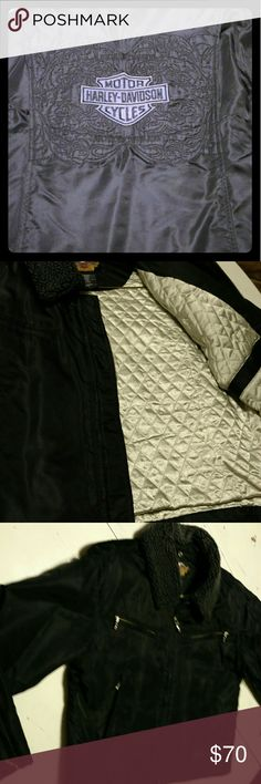 Women's Harley Davidson  bomber jacket Nice nylon jacket with lots of detail Harley-Davidson Jackets & Coats