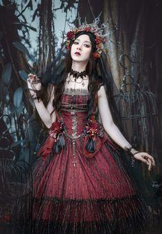 LingXi -The Silent Lilith- Gothic Lolita Jumper Dress