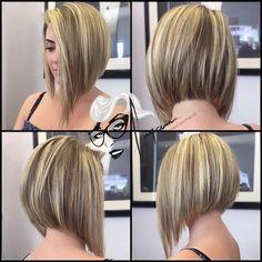Asymmetrical bob haircut Edgy Short Hair Hair, Hair styles easy to style haircuts - Haircut Style Easy Short Haircuts, Asymmetrical Bob Haircuts, Short Bob Hairstyles, Long Asymmetrical Bob, Haircut Short, Aline Bob Haircuts, Medium Inverted Bob, Blonde Inverted Bob, Bob Haircut Back View