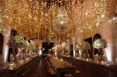 Rose Gold Wedding. Ceiling decor. Cartagena Destination Wedding. Wedding Planner: Cartagena Team Bride. Venue: Hotel Santa Teresa. Decor Designer: Andres Cortes.