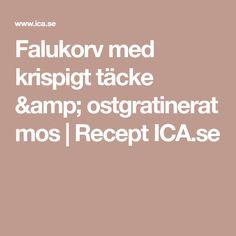 Falukorv med krispigt täcke & ostgratinerat mos   Recept ICA.se