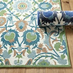 Sabine Rug - Select Colors Green x Square - Ballard Designs Navy Living Rooms, Living Room Colors, Dining Rooms, Dining Table, Ballard Designs, Floor Rugs, Wool Rug, Rug Size, Swatch