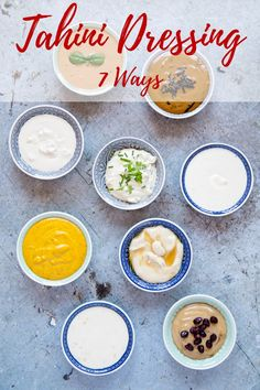 This easy to make tahini dressing is creamy, dreamy, addictively good & goes with anything. Endlessly variable & adaptable the recipe has 7 easy variations. This post includes Vegan, Paleo, Gluten Free and Keto Options. #tahini #dressing #vegan #paleo #tahinidressing via @fussfreeflavour Best Salad Dressing, Salad Dressing Recipes, Salad Dressings, Vinaigrette Dressing, Vegan Recipes, Cooking Recipes, Sauce Recipes, Free Recipes, Vegetarian Cooking