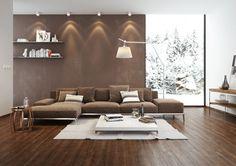 Elegant Wohnzimmer Braun Beige