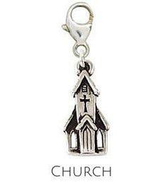Sterling Silver Charm | Church Charm | Coordinates with our Sterling Silver Charm Bracelets