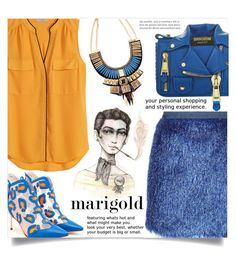 """Stay Golden: Dressing in Marigold"" by dolly-valkyrie ❤ liked on Polyvore featuring H&M, Vielma London, Moschino, Collections by Hayley and marigold"