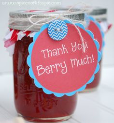 Cute Thank you idea from A Piece of Life's Pie