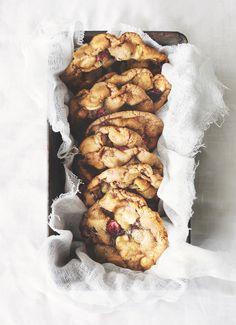 Macadamia, cranberry & white chocolate cookies