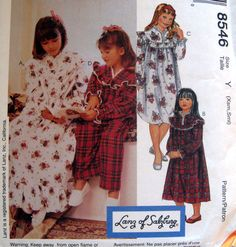 Little girl's flannel gowns