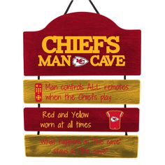Kansas City Chiefs NFL Mancave Sign **PREORDER - SHIPS IN SEPTEMBER**