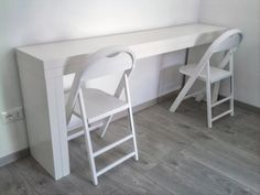 The IKEA MALM, the murphy bed of tables. Make a double-duty console/expandable dinning table from two MALMs. The icing on the cake? While this hack seems complicated to DIY, it's not. To put together all you need is a power drill and a couple of long hinges. Check our tutorial!