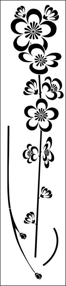Oriental Blossom stencil*vector*