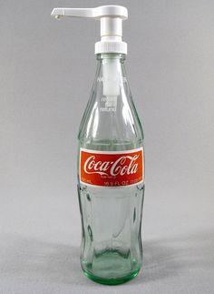 Vintage Coke Bottle Soap or Lotion Dispenser