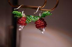 Dirigible plum earrings