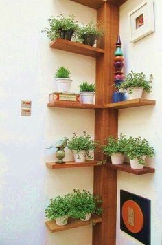 selbstgebautes Eckregal ideen pflanzen vasen baum ähnlich ähnliche Projekte un… homemade corner shelf ideas plant vases tree similar projects and ideas as presented in the picture you can find in our magazine