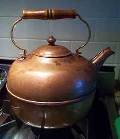 French Country lined copper kettle, USA Revere Country Line, Country French, Tea Kettles, Copper, Brass, Tea Service, Teacups, Tea Set, Cookware