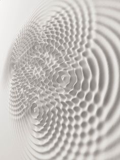 A relief audio sculpture in dialogue with architecture. Loris Cecchini liquifies the walls of art galleries by turning them into pools of undulating waves caused by sound. Tin Tin Tin, 3d Pattern, Colossal Art, 3d Texture, Waves Texture, White Texture, Shades Of White, Art Plastique, Op Art