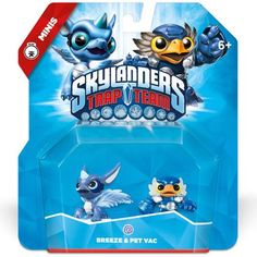 Skylanders Trap Team Breeze & Pet VAC - Mini Character 2 Pack Activision for sale online Skylanders, Breeze, Packing, Pets, Character, Minis, Board, Life, Products