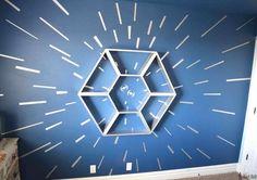 étagère sur le thème Star Wars déco DIY