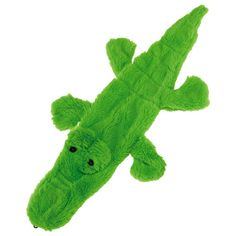 No need to fear this predator! With no stuffing and two inner squeak toys, this gator dog toy makes the perfect playmate.