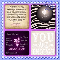 Have you heard about Younique? If there something that is holding you back from joining this amazing company? It's kind of funny when I started I was optimistic but confident that I would make money doing this  I believe to succeed it really is all in your mind I mean I work full time + commute 45 min each way have 4 kids at home pregnant with my 5!! If you want it to work you will find a way!! Contact me today for details about younique. Www.youniqueproducts.com/jamiemcintyre