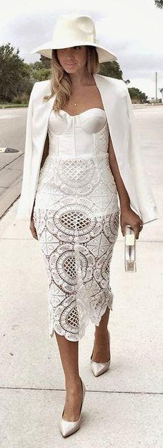 White Crochet Bandea