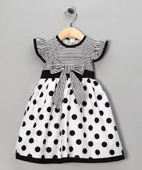 Take a look at this Black Polka Dot Stripe Dress - Toddler & Girls by Maggie Peggy on today! by bernadette Toddler Girl Dresses, Toddler Outfits, Kids Outfits, Toddler Girls, Junior Outfits, Baby Outfits, Baby Girls, Little Girl Fashion, Fashion Kids