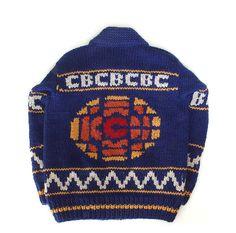 Official CBC retro sweater Retro Fan, Knitted Hats, Custom Design, Winter Hats, Beanie, Knitting, Pattern, Sweaters, Fans