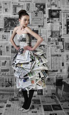 ....journey of an eco fashion brand...: Newspaper dress!!