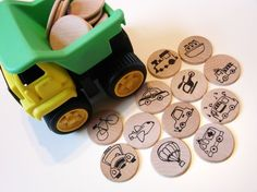 $21 Make a Match Memory Game - Transportation Edition - use craft ink on stamps to make own for less $$ ?
