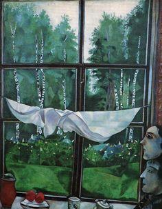 12-Марк Шагал - Окно в деревне (1915)