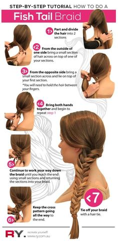 fishtail braids step by step | fishtail7