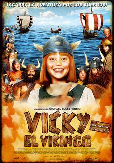 Vicky el vikingo, dirigida por Michael Bully Herbig:  Una mañana la pequeña aldea vikinga de Flake es asaltada por      los malvados guerreros de Sven que secuestran a todos los      niños... Excepto a Vicky, hijo del      jefe Alvar, que destaca por sus brillantes ideas en momentos      difíciles. Halvar, el más cabezota de los guerreros vikingos,      decide dar caza a los secuestradores y salvar heróicamente a los      niños de Flake.