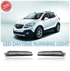 62.22$  Watch now  - Turn off style relay LED DRL car daylight Daytime Running Lights for Buick Encore/Opel Mokka  2012-15  with auto driving lamp