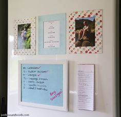 Dry erase fridge frame from an 8x10 picture frame.