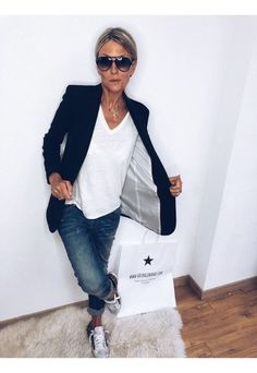 Blazer Outfits, Casual Outfits, Mode Outfits, Fashion Outfits, Mode Jeans, Street Style Trends, Casual Chic Style, Business Outfits, Work Fashion
