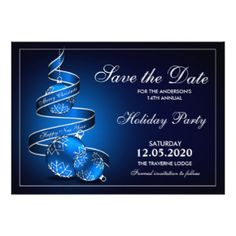 Holiday And Christmas Party Save The Date Card