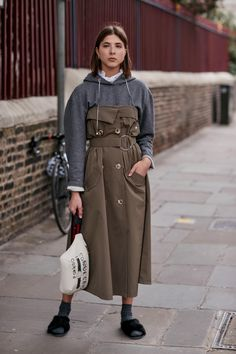 On the street at London Fashion Week. Photo: Imaxtree