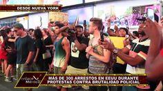 CENTENARES DE DETENIDOS POR PROTESTAS EN EEUU