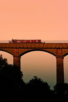 Pontcysyllte Aqueduct at Llangollen, North Wales - Amazing to be floating on water, mid-air!