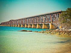 Beach Rail Bridge Key West Fine Art by EyeShutterToThink on Etsy, $15.00
