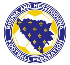 Bosnia-Herzegovina Primary Logo on Chris Creamer's Sports Logos Page - SportsLogos. A virtual museum of sports logos, uniforms and historical items. Fifa Football, World Football, Soccer World, Sport Football, Spain National Football Team, Badges, Soccer Logo, Team Mascots, International Football