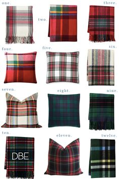 There's nothing more classic than decorating with plaid for the holidays. Take a peek at my favorite tartan plaid blankets and throw pillows! Tartan Throws, Tartan Plaid, Plaid Throw Pillows, Plaid Blanket, Tartan Decor, Plaid Bedding, Tartan Christmas, Mexican Home Decor, Bedroom Decor