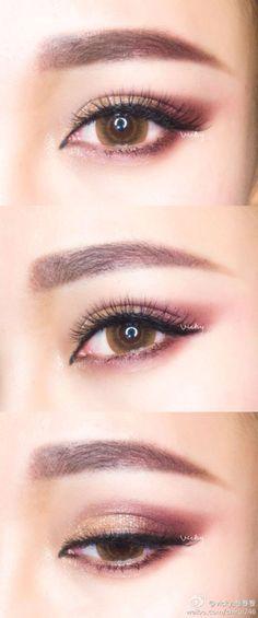 Korean eye make up #make up #idea