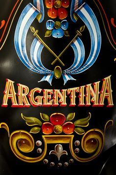 fileteado porteño - BUENOS AIRES Tango Art, Tattoo Signs, Argentine Tango, Hand Painted Signs, Typography Quotes, Cool Posters, Pinstriping, Vintage Travel Posters, Hand Lettering