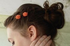 The Best 50 Hairstyle Ideas for Back-to-School—from Readers Like You!: Pretty Rose Pins