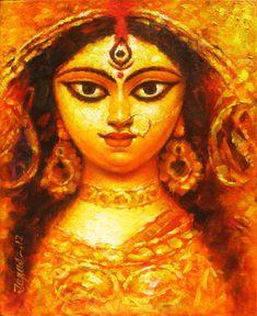 Beautiful #Painting of Maa Durga Explore more #collection of Durga Paintings https://goo.gl/2sznRg