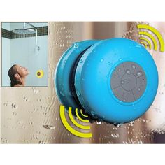 Waterproof Bluetooth Shower Speaker & Hands Free Speakerphone - Assorted Colors